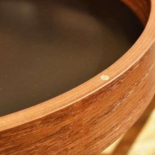 サイドテーブル AZUMAYA(東谷) PT-616 ブラウンカラー オーク化粧合板・化粧繊維板 天板内部収納スペース付き トレーテーブル商品画像5