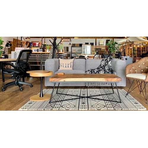 サイドテーブル PT-617 ナチュラルカラー オーク化粧合板・化粧繊維板 天板内部収納スペース付き トレーテーブル商品画像7