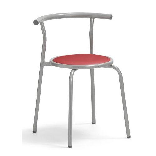 スツール(丸椅子) 背付き スタッキングチェア RC-70 固定脚 粉体塗装商品画像2