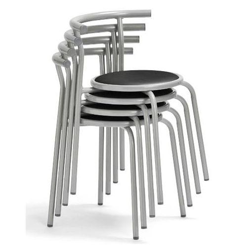 スツール(丸椅子) 背付き スタッキングチェア RC-70 固定脚 粉体塗装商品画像7