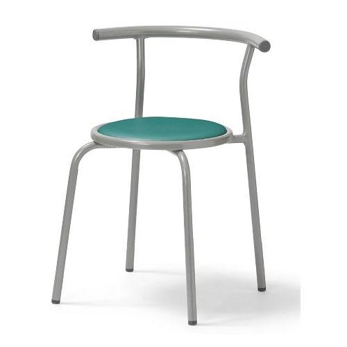スツール(丸椅子) 背付き スタッキングチェア RC-70 固定脚 粉体塗装のメイン画像