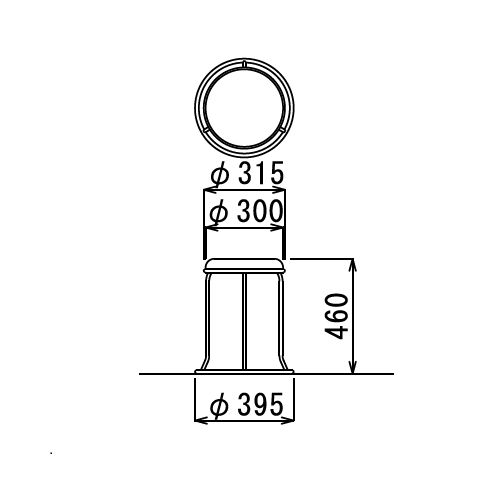 スツール(丸椅子) スタッキングチェア RC-80M 固定脚 クロームメッキ商品画像2