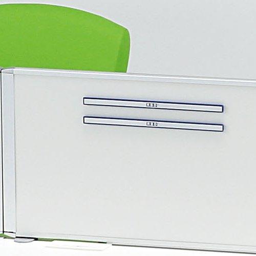 デスクトップパネル スチールタイプ ホワイト色 RDP-1200SWH W1200×H350(mm)商品画像7