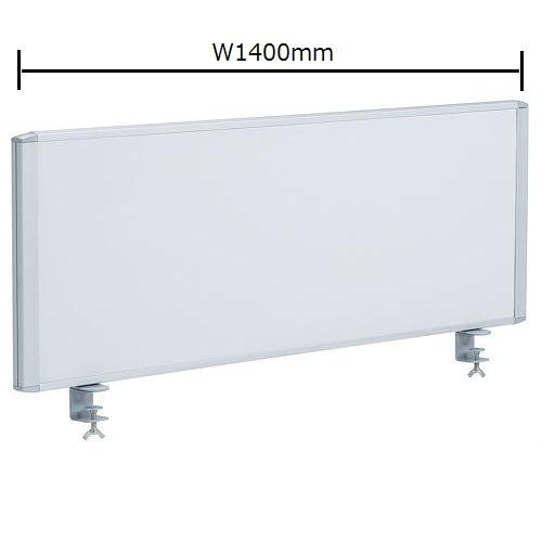 デスクトップパネル スチールタイプ ホワイト色 RDP-1400SWH W1400×H350(mm)のメイン画像