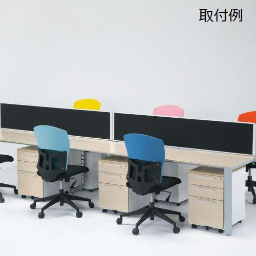 テーブル(会議用) 井上金庫(イノウエ) デスクトップパネル クロス生地仕様 RDP-2100BK UTSテーブル(W2100×D1200)専用商品画像2