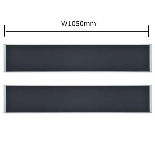 テーブル(会議用) 井上金庫(イノウエ) デスクトップパネル クロス生地仕様 RDP-2100BK UTSテーブル(W2100×D1200)専用のメイン画像
