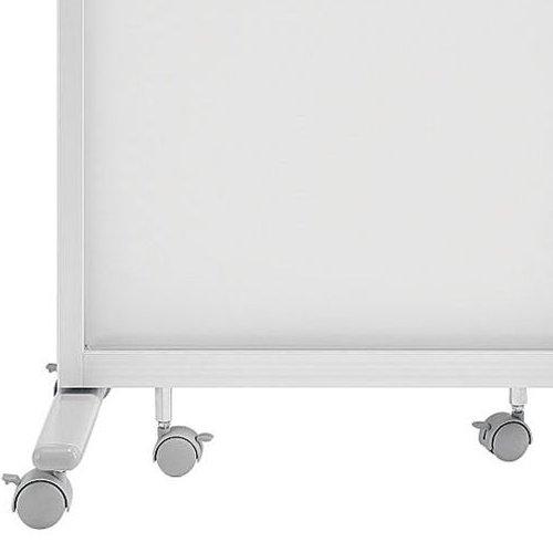 【廃番】パーティション(間仕切り) 井上金庫(イノウエ) 3連パーティション 三つ折りパネル RM3-AL アクリル半透明パネル商品画像5
