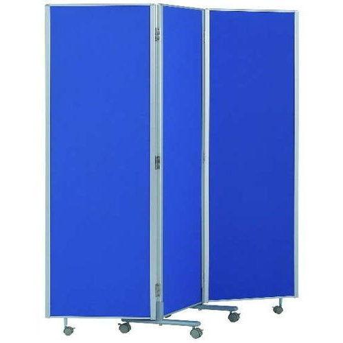 パーティション(間仕切り) 3連パーティション 三つ折りパネル RM3-CBL 布ブルー色パネル商品画像2