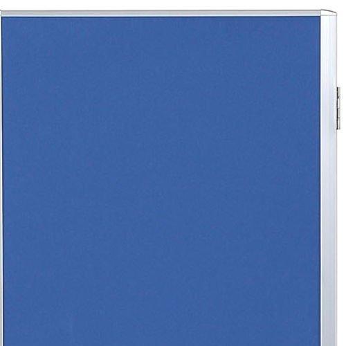 パーティション(間仕切り) 3連パーティション 三つ折りパネル RM3-CBL 布ブルー色パネル商品画像3