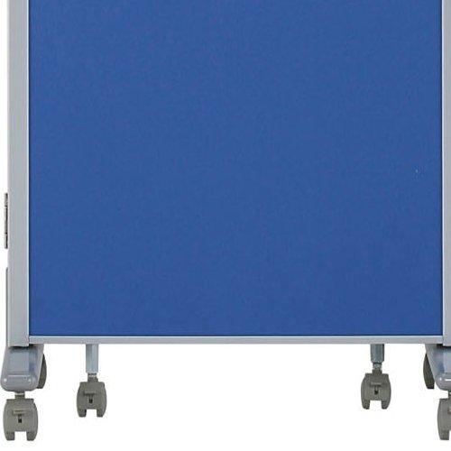 パーティション(間仕切り) 3連パーティション 三つ折りパネル RM3-CBL 布ブルー色パネル商品画像5