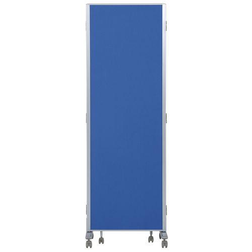 パーティション(間仕切り) 3連パーティション 三つ折りパネル RM3-CBL 布ブルー色パネルのメイン画像