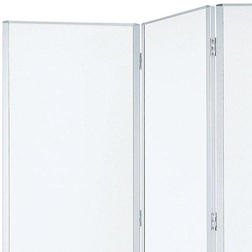 パーティション(間仕切り) 井上金庫(イノウエ) 3連パーティション 三つ折りパネル RM3-SWH スチールホワイト色パネル商品画像2