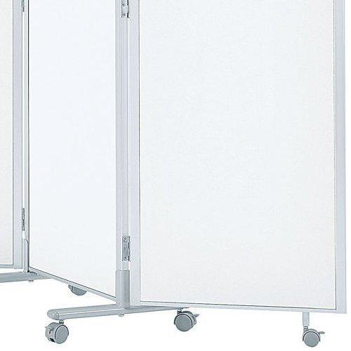 パーティション(間仕切り) 3連パーティション 三つ折りパネル RM3-SWH スチールホワイト色パネル商品画像4