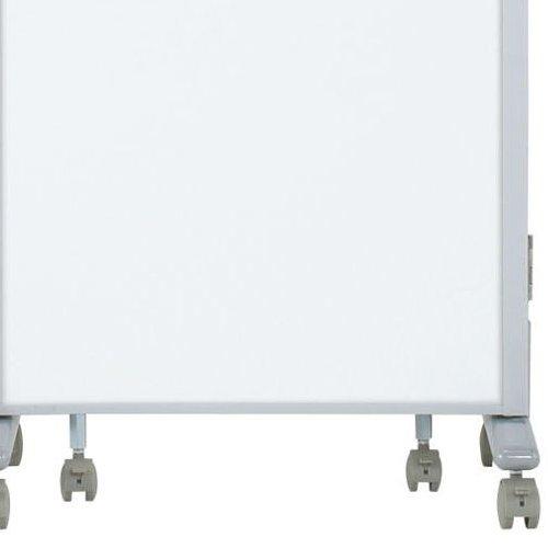 パーティション(間仕切り) 井上金庫(イノウエ) 3連パーティション 三つ折りパネル RM3-SWH スチールホワイト色パネル商品画像6