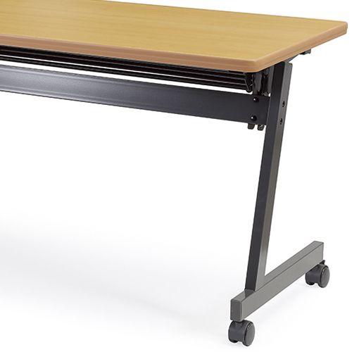 会議用テーブル SAG-1860 W1800×D600×H700(mm) サイドスタックテーブル 棚付き・パネルなし商品画像9