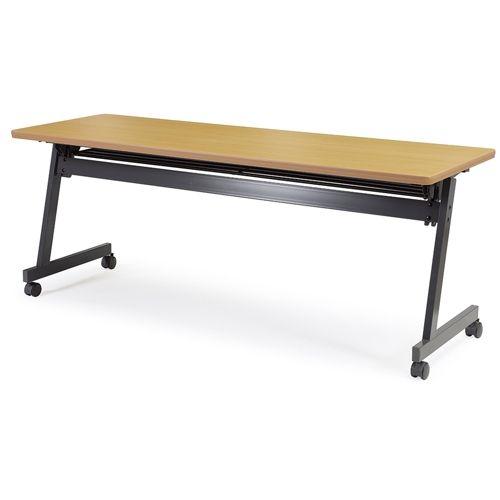 会議用テーブル SAG-1860 W1800×D600×H700(mm) サイドスタックテーブル 棚付き・パネルなしのメイン画像