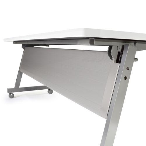 会議用テーブル SAGP-1545 W1500×D450×H700(mm) サイドスタックテーブル 棚付き・パネル付き商品画像4