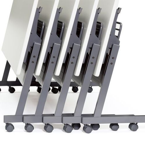 会議用テーブル SAGP-1545 W1500×D450×H700(mm) サイドスタックテーブル 棚付き・パネル付き商品画像8