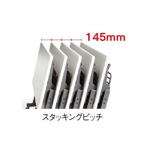 会議用テーブル SAGP-1545 W1500×D450×H700(mm) サイドスタックテーブル 棚付き・パネル付き商品画像9