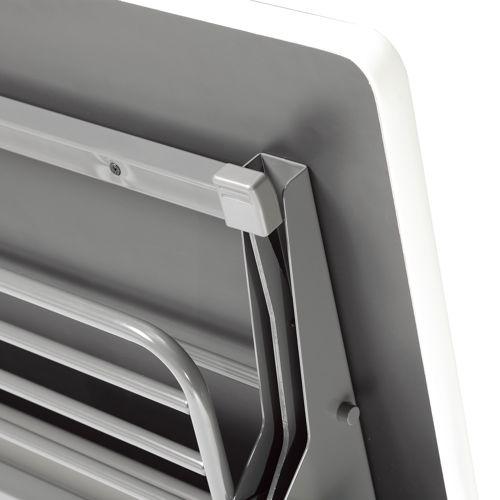 会議用テーブル SAGP-1845 W1800×D450×H700(mm) サイドスタックテーブル 棚付き・パネル付き商品画像4