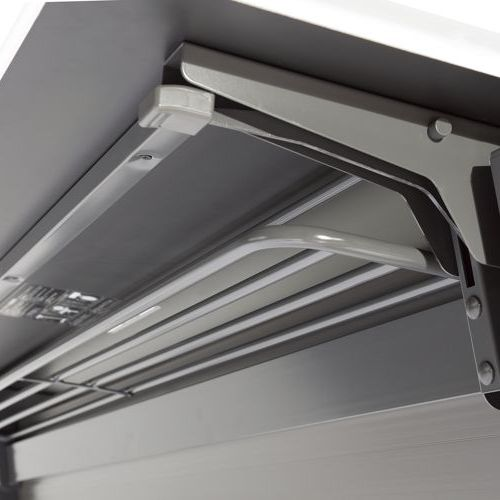 会議用テーブル SAGP-1845 W1800×D450×H700(mm) サイドスタックテーブル 棚付き・パネル付き商品画像5