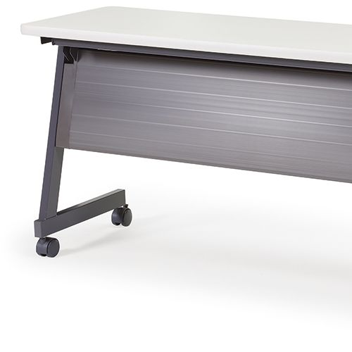 会議用テーブル SAGP-1845 W1800×D450×H700(mm) サイドスタックテーブル 棚付き・パネル付き商品画像9