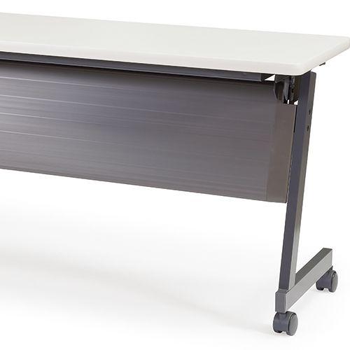 会議用テーブル SAGP-1845 W1800×D450×H700(mm) サイドスタックテーブル 棚付き・パネル付き商品画像10