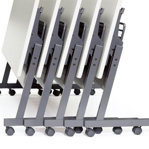会議用テーブル SAGP-1860 W1800×D600×H700(mm) サイドスタックテーブル 棚付き・パネル付き商品画像8