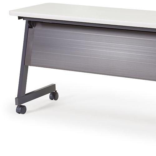 会議用テーブル SAGP-1860 W1800×D600×H700(mm) サイドスタックテーブル 棚付き・パネル付き商品画像10