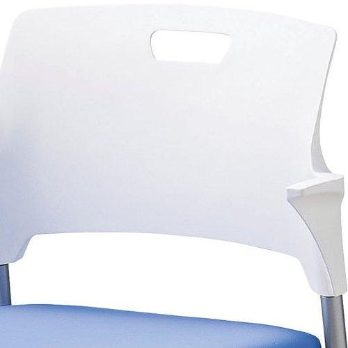 会議椅子 スタッキングチェア SAIN-P24 固定脚 ビニールレザー張り ハーフ肘付き商品画像4