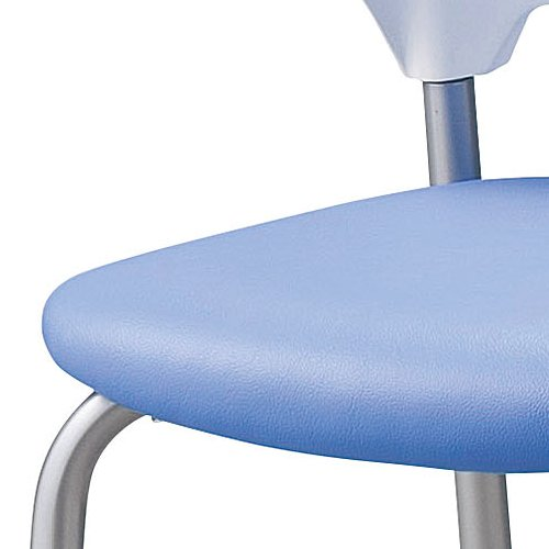 会議椅子 スタッキングチェア SAIN-P25C キャスター脚 ビニールレザー張り ハーフ肘付き商品画像4