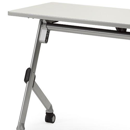 会議用テーブル SAK-1245 W1200×D450×H720(mm) 平行スタックテーブル 棚なし・パネルなし商品画像9