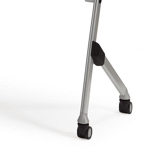 会議用テーブル SAK-1245 W1200×D450×H720(mm) 平行スタックテーブル 棚なし・パネルなし商品画像10