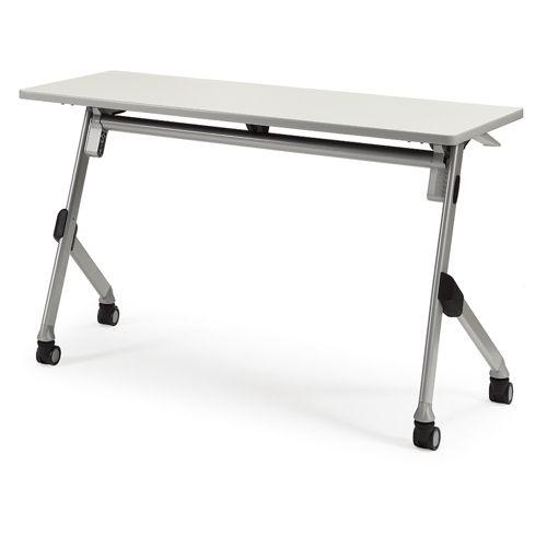 会議用テーブル SAK-1245 W1200×D450×H720(mm) 平行スタックテーブル 棚なし・パネルなしのメイン画像