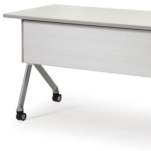 会議用テーブル SAKP-1245 W1200×D450×H720(mm) 平行スタックテーブル 棚なし・パネル付き商品画像9