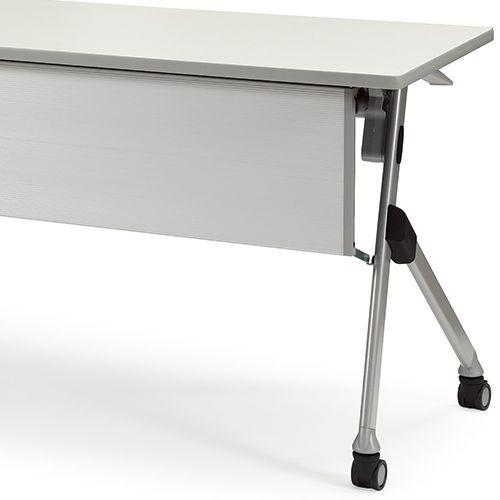 会議用テーブル SAKP-1245 W1200×D450×H720(mm) 平行スタックテーブル 棚なし・パネル付き商品画像10