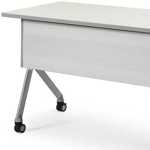 会議用テーブル SAKP-1260 W1200×D600×H720(mm) 平行スタックテーブル 棚なし・パネル付き商品画像9