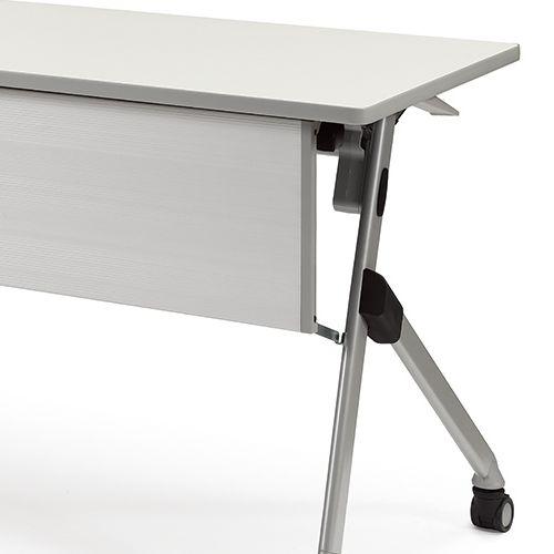 会議用テーブル SAKP-1260 W1200×D600×H720(mm) 平行スタックテーブル 棚なし・パネル付き商品画像10