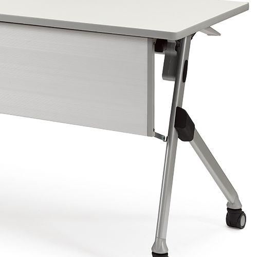 会議用テーブル SAKP-1845 W1800×D450×H720(mm) 平行スタックテーブル 棚なし・パネル付き商品画像10