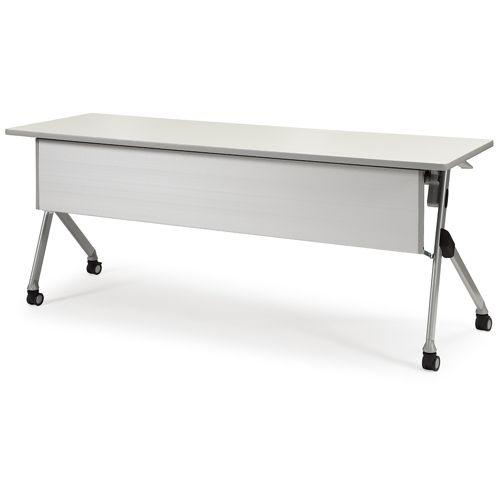 会議用テーブル SAKP-1845 W1800×D450×H720(mm) 平行スタックテーブル 棚なし・パネル付きのメイン画像