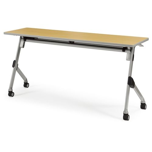 会議用テーブル SAKT-1545 W1500×D450×H720(mm) 平行スタックテーブル 棚付き・パネルなしのメイン画像