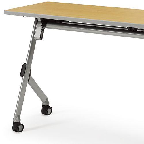 会議用テーブル SAKT-2145 W2100×D450×H720(mm) 平行スタックテーブル 棚付き・パネルなし商品画像10