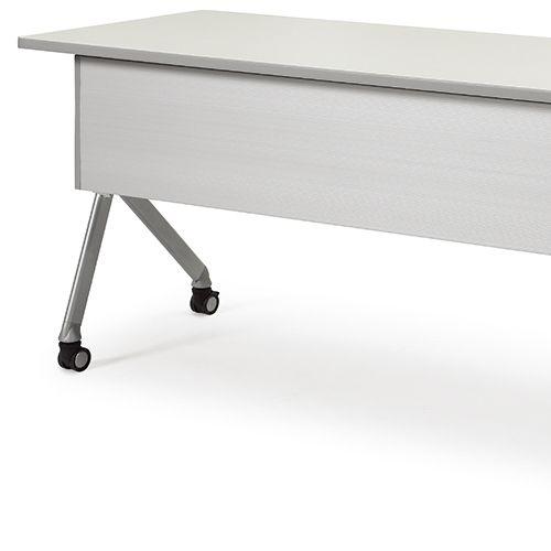 会議用テーブル SAKTP-1860 W1800×D600×H720(mm) 平行スタックテーブル 棚付き・パネル付き商品画像10