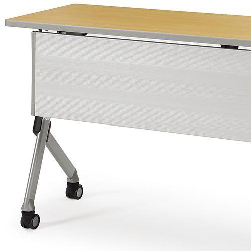 会議用テーブル SAKTP-2145 W2100×D450×H720(mm) 平行スタックテーブル 棚付き・パネル付き商品画像10