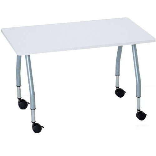 【廃番】テーブル(会議用) アイコ 天板上下昇降式 キャスター脚 SHT-1275KC W1200×D750×H680~740(mm) 角形天板のメイン画像