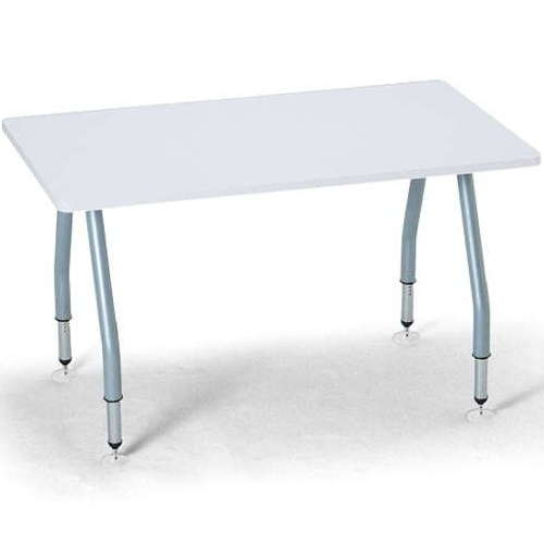 【廃番】テーブル(会議用) アイコ 天板上下昇降式 4本固定脚 SHT-1275KP W1200×D750×H665~725(mm) 角形天板のメイン画像