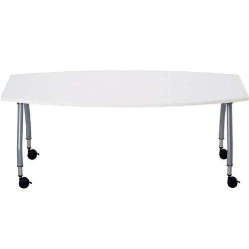 【廃番】テーブル(会議用) アイコ 天板上下昇降式 キャスター脚 SHT-1890BC W1800×D900×H680~740(mm) ボート形(舟形)天板商品画像2