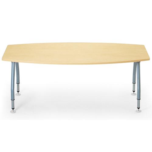 【廃番】会議用テーブル アイコ 天板上下昇降式 4本固定脚 SHT-1890BP W1800×D900×H665~725(mm) ボート形(舟形)天板のメイン画像