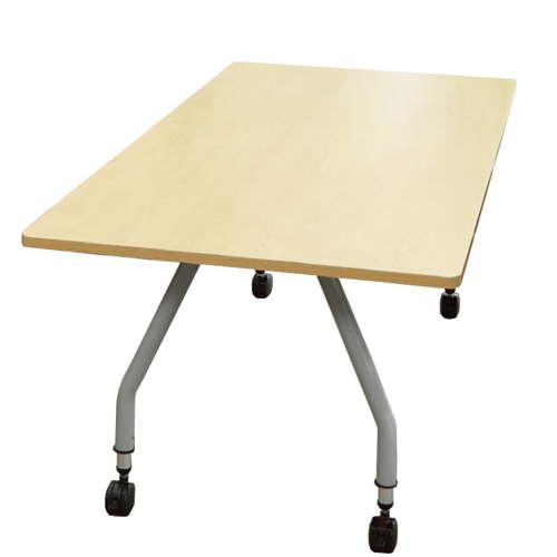 【廃番】会議用テーブル 天板上下昇降式 キャスター脚 SHT-1890KC W1800×D900×H680~740(mm) 角形天板のメイン画像