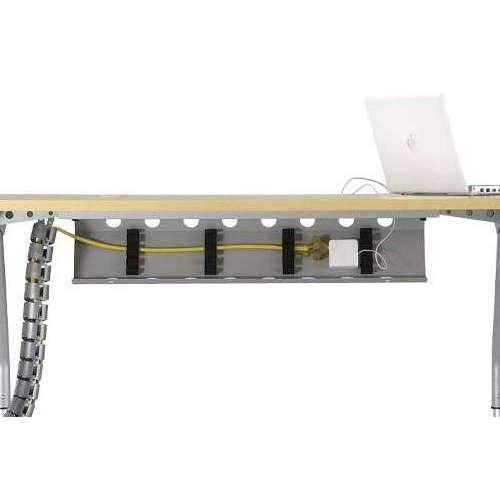 【廃番】会議用テーブル 天板上下昇降式 4本固定脚 SHWT-1890BP W1800×D900×H665~725(mm) ボート形(舟形)天板 ワイヤリングテーブル商品画像5